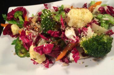 Cauliflower with vegetables