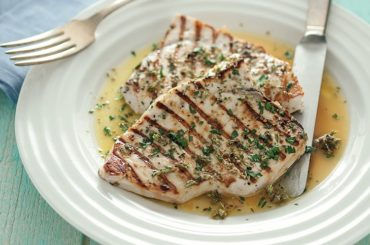 Swordfish with ginger and lemon