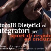 Scheda di registrazione: Protocolli Dietetici e Integratori per Sport di Resistenza ed Endurance (ECM 16 crediti, 16-17 Maggio 2019)
