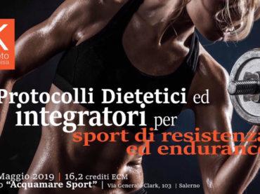 Protocolli Dietetici e Integratori per Sport di Resistenza ed Endurance (ECM 16 crediti, 16-17 Maggio 2019)