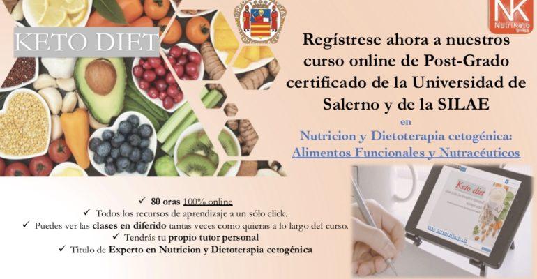 NUTRIKETO: Curso online de Post-Grado: Nutricion y Dietoterapia Cetogénica: Suplementos y Nutracéuticos