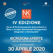 Nutriketo IV anche online: Iscrizioni aperte! nuovo bando scadenza 30 aprile 2020